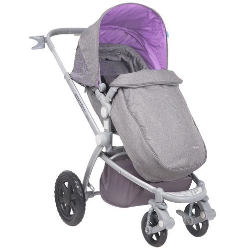 coche con silla para auto epic violeta infanti + regalo