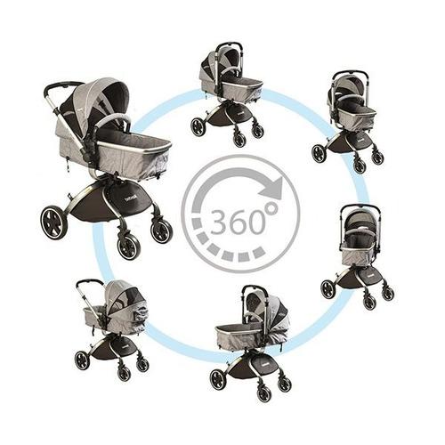 coche de bebe 360 º de bebesit + babysilla /paseo de  bebe