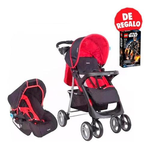 coche para bebe con silla para auto pompeya infanti + regalo