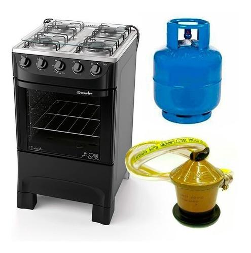 cocina 4h supergas + garrafa sin carga válvula latentacion