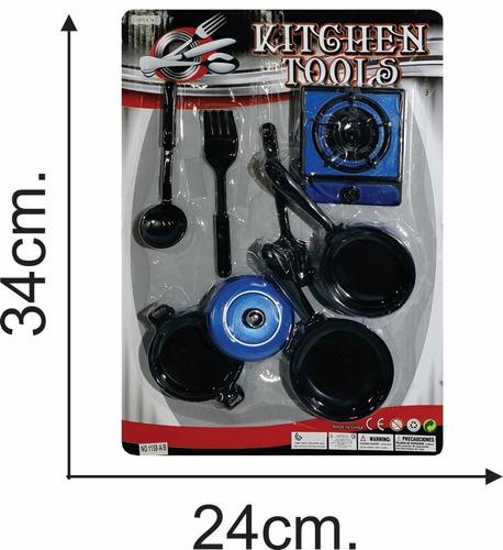 cocina c acc blister 34 x 24 cms imit metal - el regalón