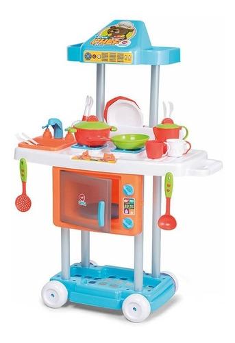 cocina de niño infantil completa riva chef azul bentancor ou