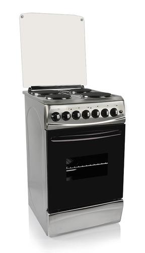 cocina electrica 4 hornallas acero  delne casa imperio