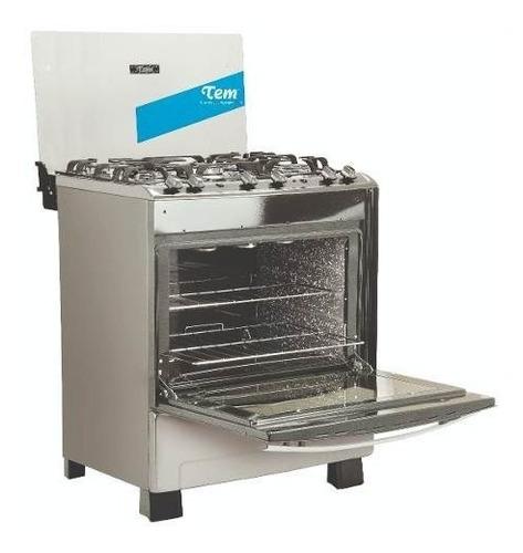 cocina tem 5 hornallas acero grill tienda copacabana