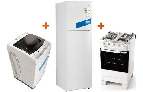cocina tem supergas + heladera clase a + lavarropas tem 5kg