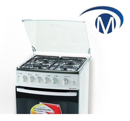 cocinas combinadas james c215 blanca mesa acero pcm