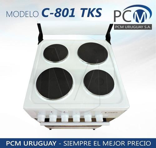 cocinas electricas james 801 enlozada termostato 4 disco pcm