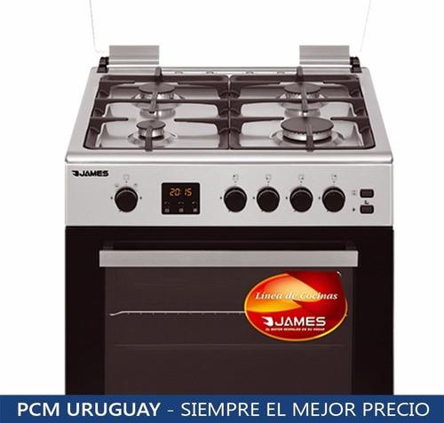 cocinas gas james c26a inox con grill termocupla pcm