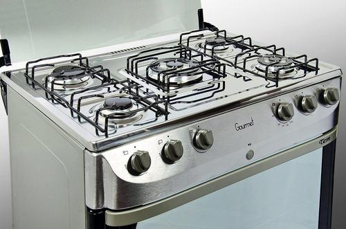 cocinas gas tem gourmet 5 hornallas una triple llama pcm