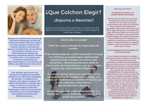 colchon 1 plaza alta densidad ortopedico colchones