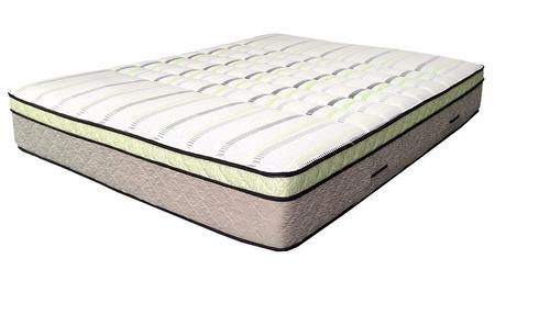 colchon 1 plaza de espuma alta densidad c/pillow