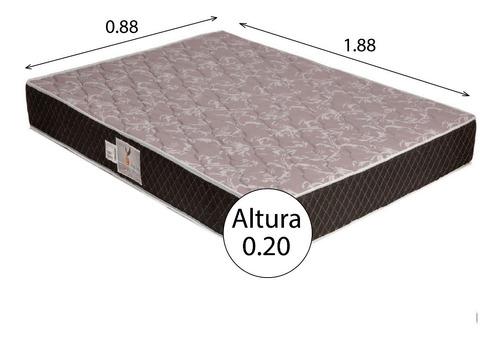 colchon 1 plaza espuma alta densidad guaruja 0.90