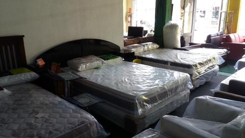 colchón 2 plazas alta densidad goma ultra ortopédico