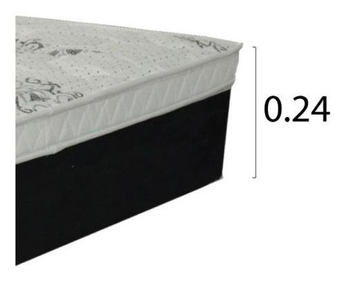 colchon 2 plazas espuma alta densidad 1.6 150kg altura 24cm