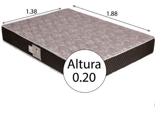colchon 2 plazas espuma alta densidad guaruja 1.40