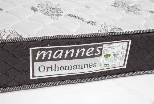 colchón 2 plazas ortopédico alta densidad - kudam