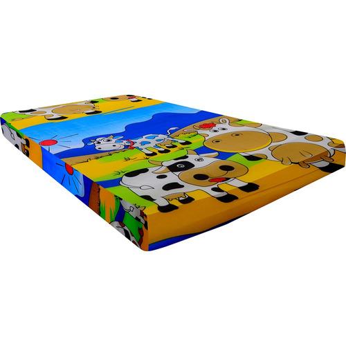 colchón practicuna impermeable poliflex 96x70x7 cm