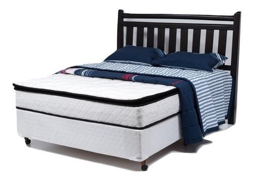 colchón resortes 2 plazas  pillow  - kudam