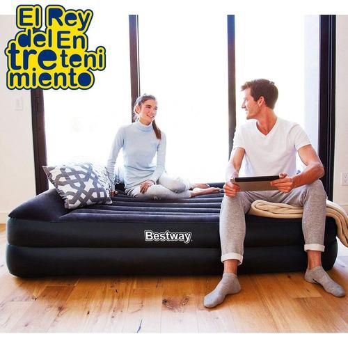 colchón sommier inflable bestway 2p eléctrico camping el rey