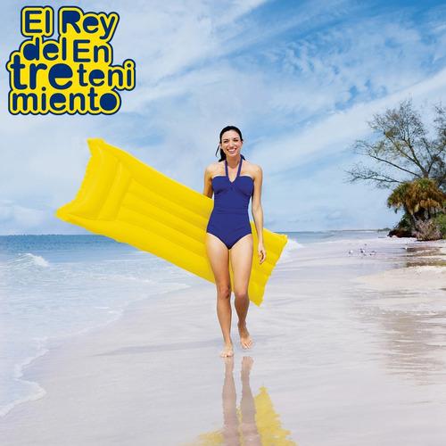 colchoneta inflable bestway 183cm p/ piscina + parche el rey