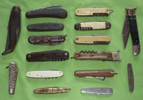colección: 16 navajas de bolsillo antiguas gran variedad