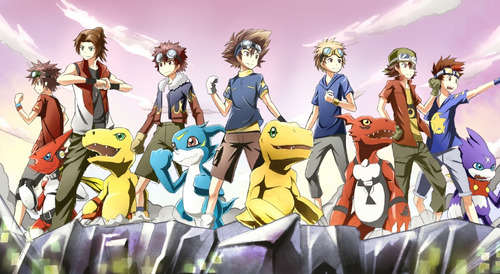colección anime - digimon adventure - 10 posters