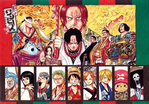 colección anime - one piece - 3 posters