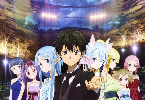 colección anime - sword art online - 5 posters