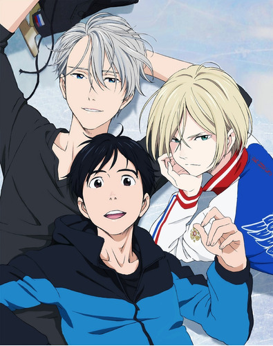 colección anime - yuri on ice - 5 posters