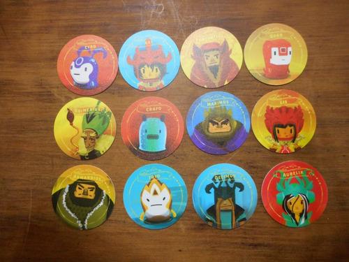 colección completa de 12 tazos caza problemas 2013.