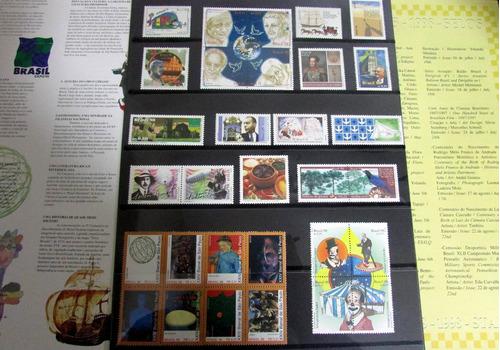 coleção anual selos correios de 1998