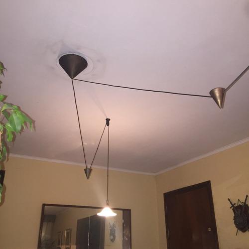 colgante 2 luces con pesas