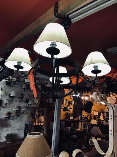 colgante 4 luces - exclusivo cimarron  !!!