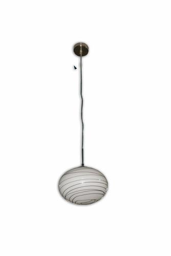 colgante campana en colgante oval hilos negros 25cm