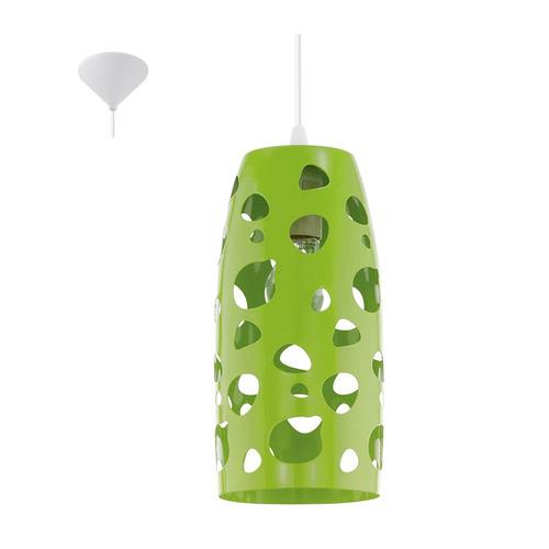 colgante con calados, color verde  - eglo eg0116