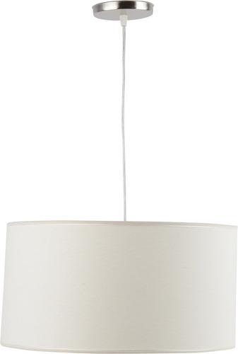 colgante pantalla cilindrico tela natural artelamp