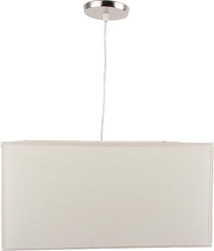 colgante pantalla cuadrado tela natural artelamp