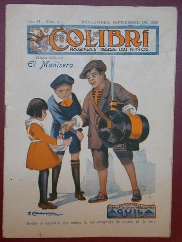 colibrí páginas para los niños, set 1922, aguila saint, 16 p