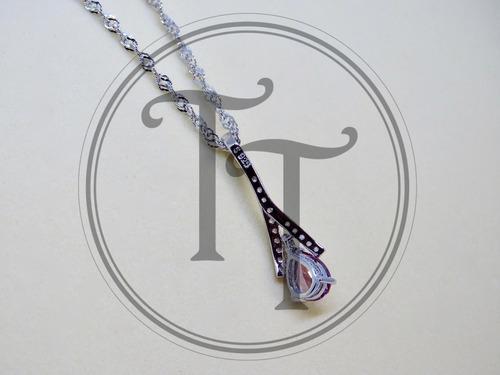 collar alejandrina 0.9 ct plata esterlina