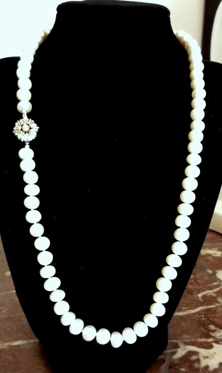 368e04876602 collar de perlas de rìo broche de plata antiguo. aprox.9mms. Cargando zoom.