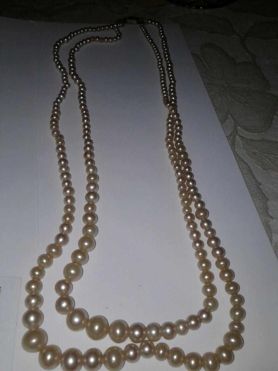 c611c3fa069f Collar De Perlas Doble Vuelta