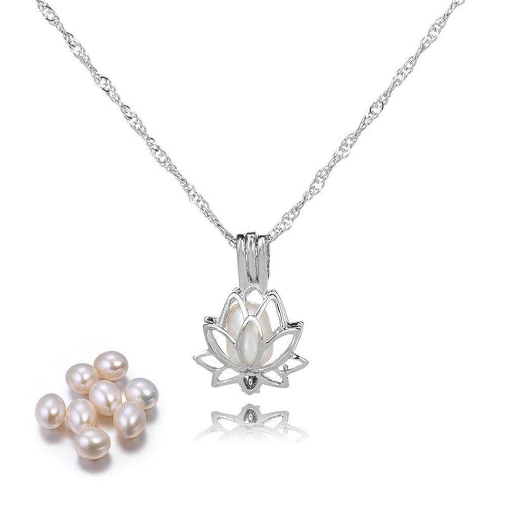 b465c88d81dc collar de perlas lotus colgante locket perlas collares pe. Cargando zoom.