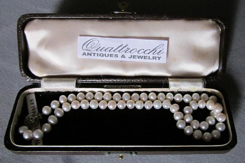 b59c98b8db2d Collar De Perlas Naturales Con Cierre De Plata Y Brillante -   8.000 ...
