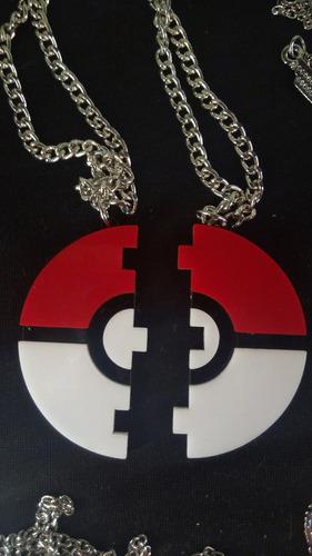 collar doble de pokebola  pokemon dije 5.5cm san valentin