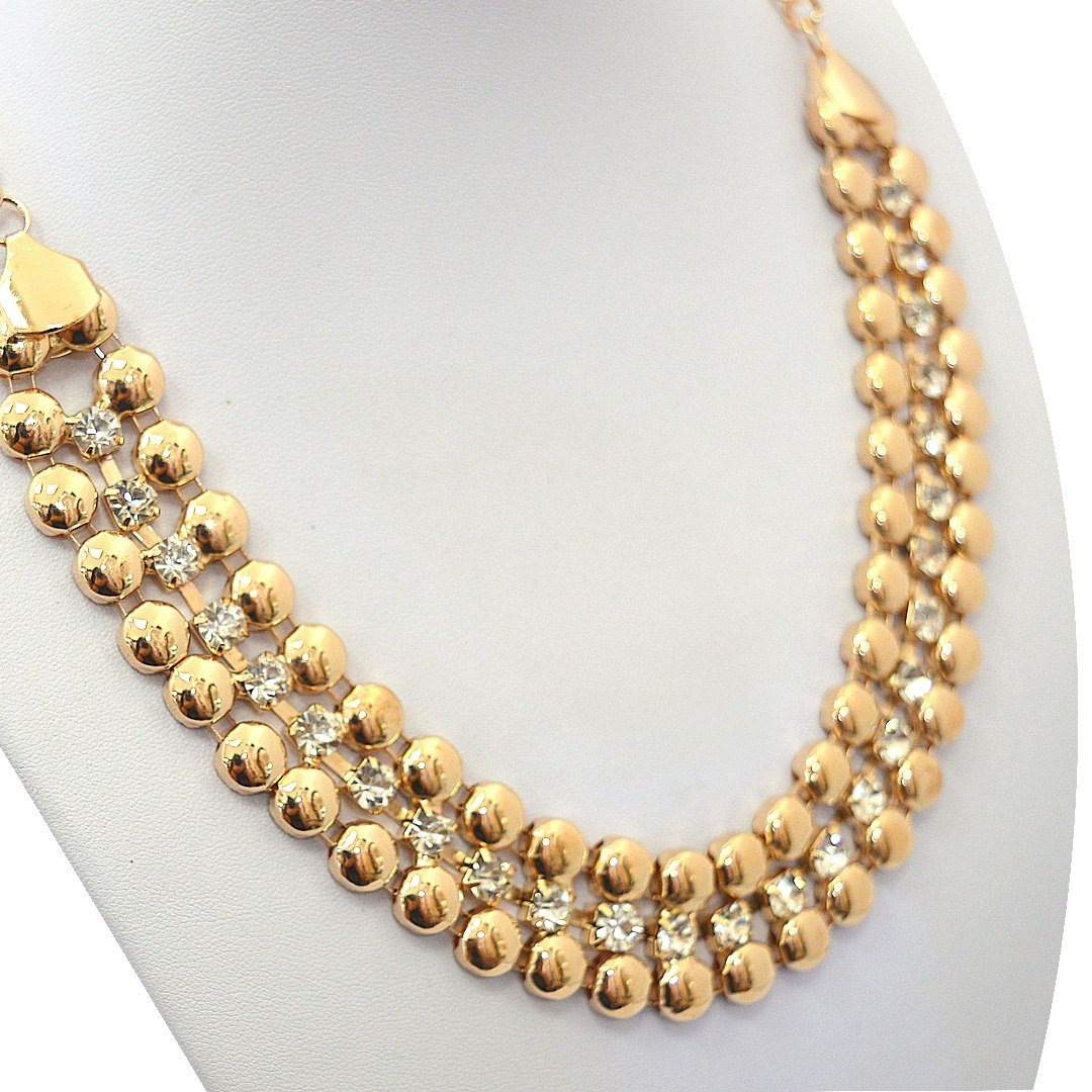 473bf0a3500c collar dorado brillante   rs0270 - indigo shop. Cargando zoom.