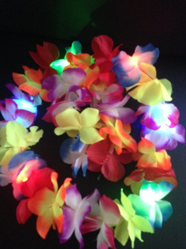 collar hawaiano luces x 6