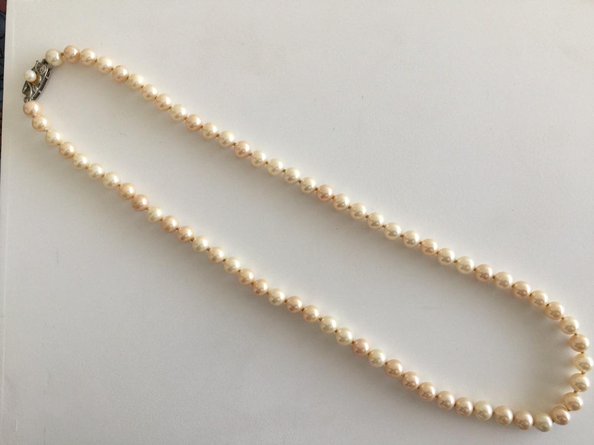 ce46ed72b0ff collar perla mallorca no real cierre plata antiguo encelente. Cargando zoom.