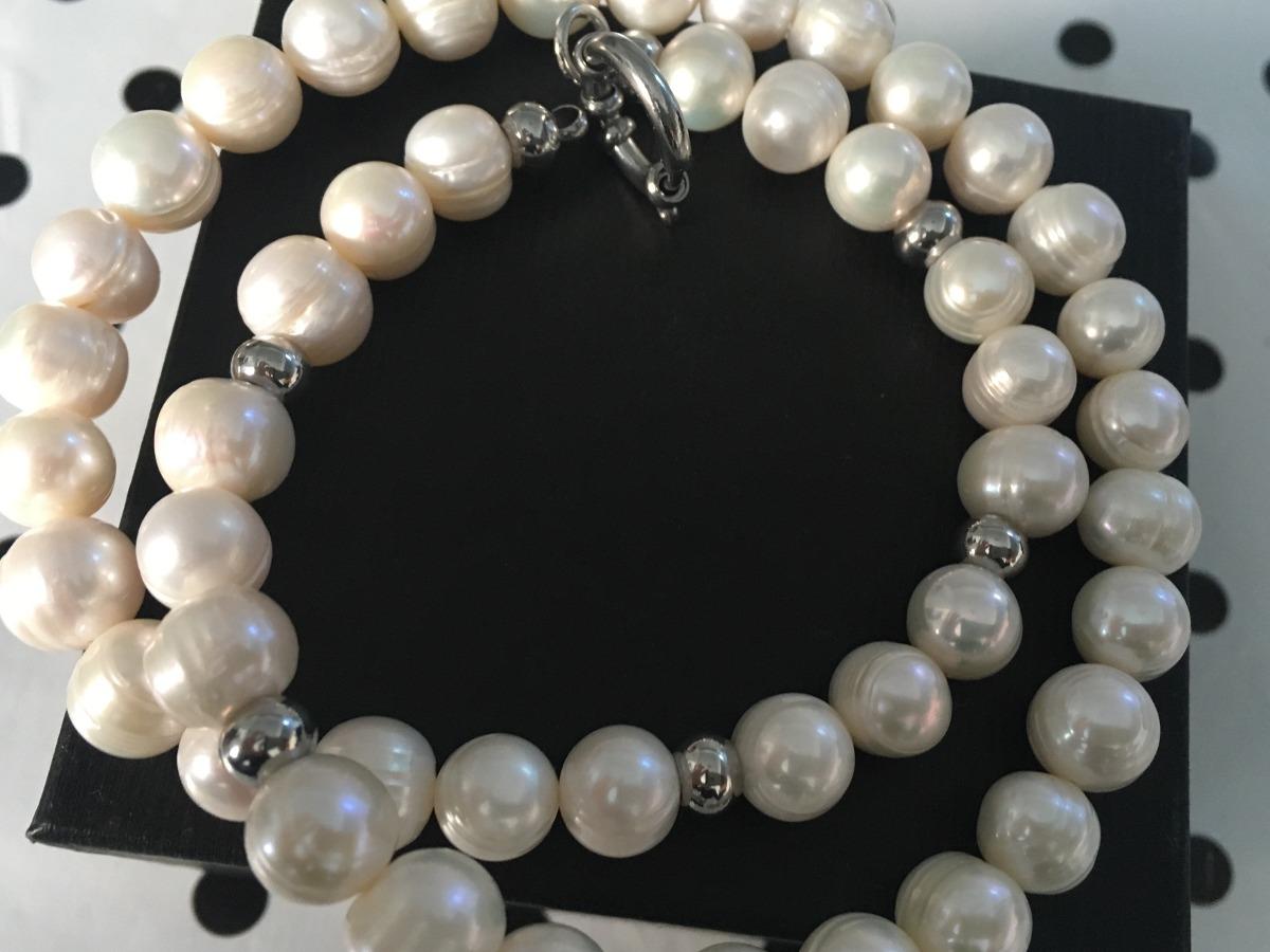 543adc545961 collar perlas de río y cierre marinero y acero. Cargando zoom.