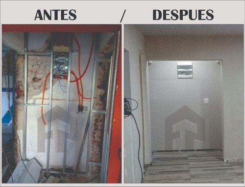 colocación yeso cielorrasos reformas electricidad sanitaria