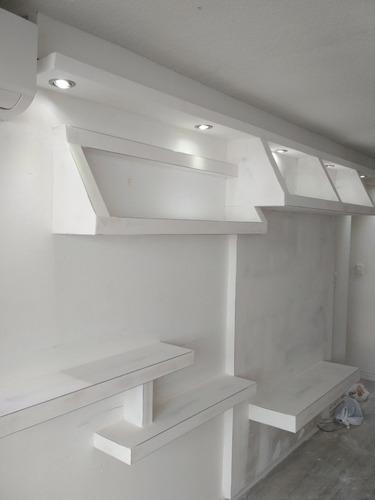 colocacion yeso tabiques divisorio revestimientos pared  pvc
